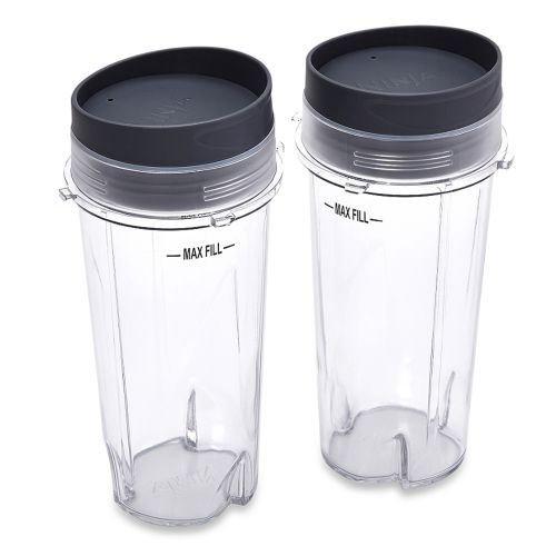 Ninja Set of 2 16-oz Single Serve Cups with Lids for Ninja BL660 Pro Blender
