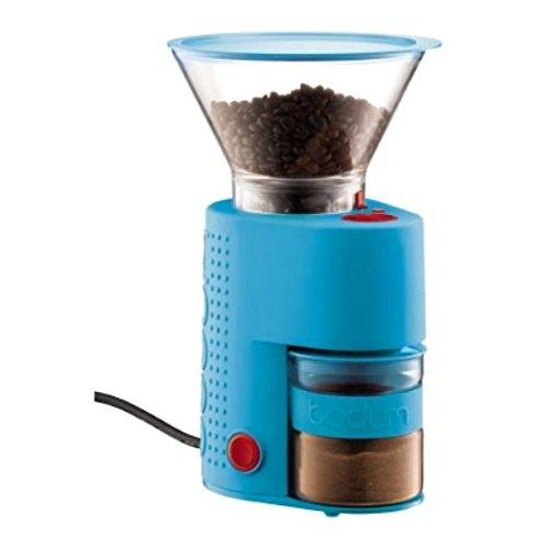 Bodum BISTRO Burr Grinder Electronic Coffee Grinder with Continuously Adjustable Grind Blue