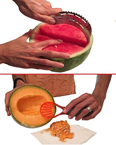 Kitchen Gadgets Set By Gadget Pro - Stainless Steel Watermelon SlicerServer Multifunction FruitVegetable Seeder Making Healthy Snack Prep A Breeze