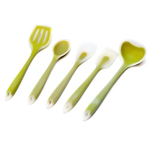cici store 5Pcs Silicone Kitchen Utensils Set Non-stick Cooking Bake Tools