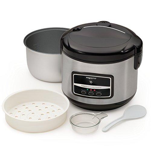 Presto 05813 16-Cup Digital Stainless Steel Rice CookerSteamer