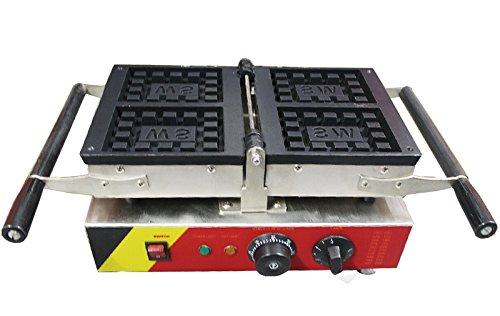 Generic Commercial Use Nonstick 110v 220v Electric 4-slice 180° Opening 492x354 Belgium Waffle Maker