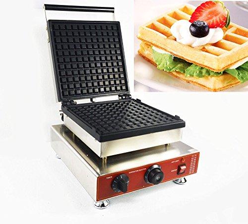 Nonstick Electric Belgian Waffle Maker Iron Baker Machine Big Square Model 110V