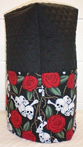 Quilted Skulls Roses Blender Cover Regular Black