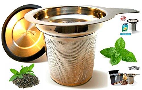 Tea Infuser Premium Tea Strainer 304 Stainless Steel With Lid Steeper Brew In Mug Strainers For Loose Leaf Herbal