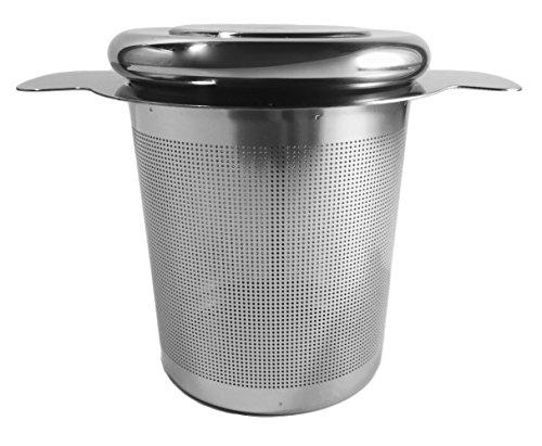 Tea Tribe Loose Tea Infuser - Premium Stainless Steel Loose Leaf Infuser - Extra Fine Mesh Strainer - Single Cup