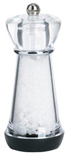 Trudeau Acrylic Salt Mill Filled With Sea Salt -