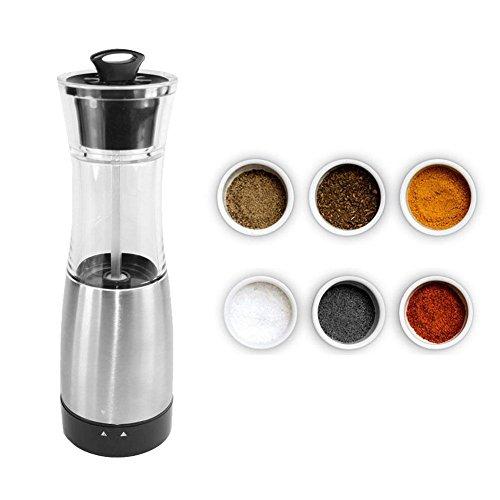 Sunreal Pepper Grinder - Premium Stainless Steel Salt and Pepper Grinder Electric Adjustable Roughness Pepper Shakers