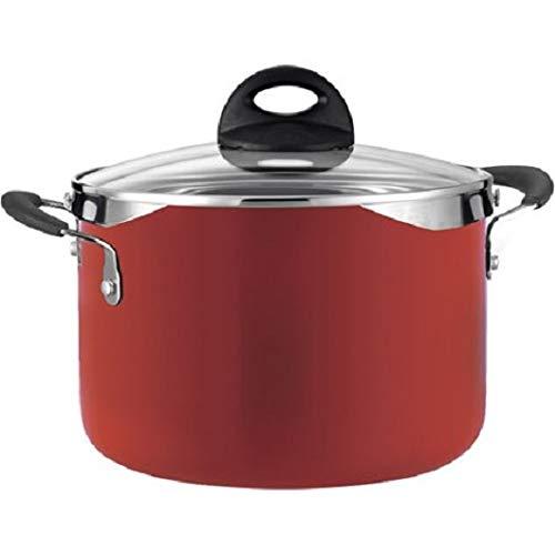 Tramontina Style 6-Quart Lock and Drain Pasta Pot Red Enamel