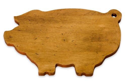JK Adams 14-Inch-by-9-Inch Maple Wood Cutting Board Pig-Shaped