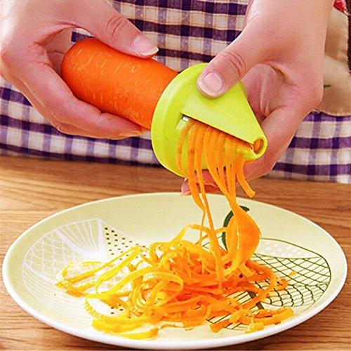 Veget - Gadget Funnel Model Vegetable Shred Device Spiral Slicer Carrot Radish Cutter 1 Piece Gadgets - Fruit Vegetable Gold Remover Korean Guard Garlic Plastic Disc Veget Goods Metal Pr