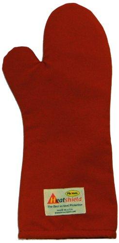 Phoenix 18-Inch Conventional Oven Mitt Red Heatshield Package of 2