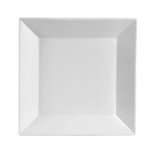 105 Inch Porcelain Square Dinner Plates - 6 Packs White