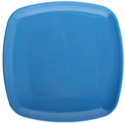 Melange 6-Piece 100 Melamine Square Dinner Plate Set Squares Solid  Shatter-Proof and Chip-Resistant Melamine Square Dinner Plates  Color Blue