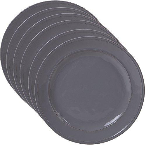 Certified International Corp 22870SET6 Orbit Grey 11 Dinnerware Plates Set of 6