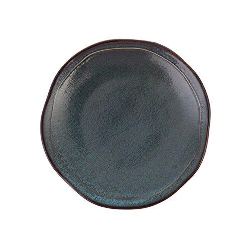 D&V 6 Piece Stōn Porcelain Dinnerware Dinner Plate Set 10 Twilight