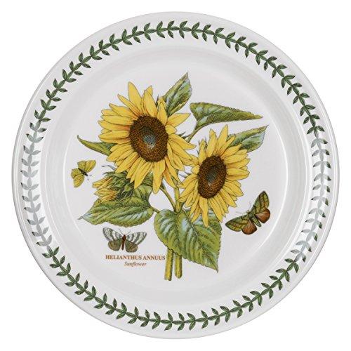 Portmeirion Botanic Garden Dinner Plate Sunflower Motif Set of 6