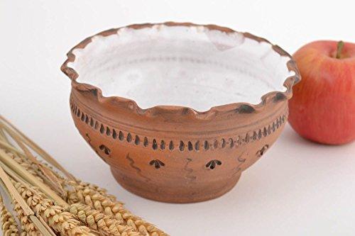 Beautiful Homemade Clay Bowl Kilned With Milk 500 Ml Designer Kitchenware