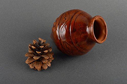 Handmade ceramic decanter stylish designer kitchenware clay glass 400 ml