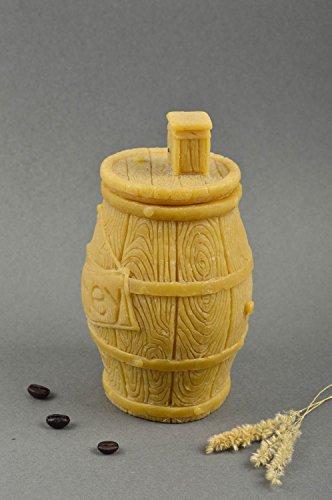 Handmade unique waxed barrel for honey unusual designer kitchenware present