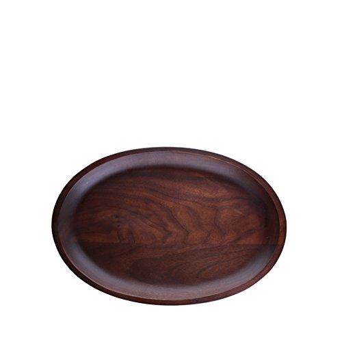 Black walnut solid wood bowls wooden tray fruit Oval-Western-A
