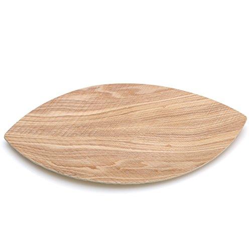 Modern solid wood bowls creative leaf-shaped fruit candy seed-box-B