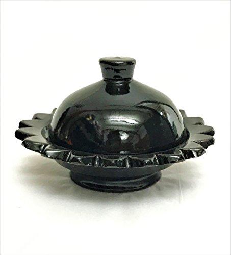 Small Moroccan Ceramic Serving Dish Handpainted in Black