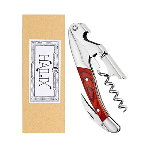 Professional Waiters Corkscrew Bottle Opener for SommeliersBartenders-Premium All-in-one Wine Opener and Foil Cutter with a Comfortable Rosewood handle-Gift Box