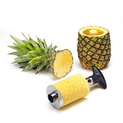 Golden Leo® Pineapple Corer Slicer Cutter Peeler Stainless Steel Kitchen Easy Gadget Fruit