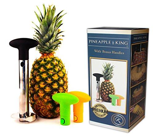 Pineapple Peeler Corer Slicer Easy Cutter Decorer Wedger Stainless Steel Kitchen Utensil Set