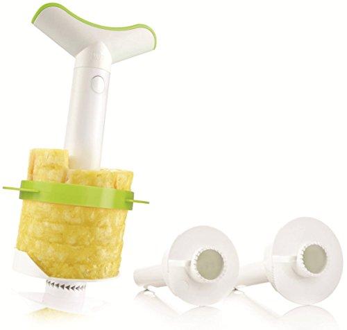 Vacu Vin 4-in-1 Pineapple Peeler, Corer, Slicer And Wedger Set Of 3