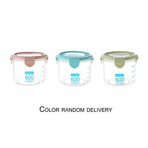 Liobaba Household Plastic Storage Jars Food Storage Bottle Safe Non-Toxic Leakproof Sealed Kitchen Storage Box