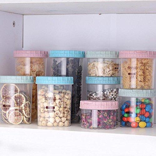 Wheat Straw Stackable Grains Seal Tank Transparent Food Storage Bottle Plastic Box - Plastic Storage Box
