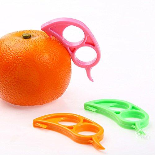 4 X Orange Opener Peeler Slicer Cutter Plastic Lemon Citrus Fruit Skin Remover