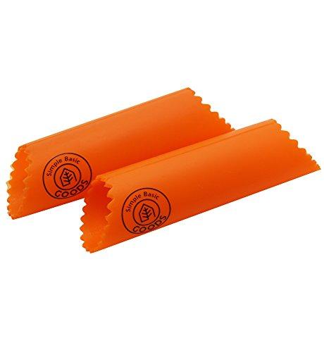 Simple Basic Goods - Silicone Garlic Peeler, Set Of 2, Orange