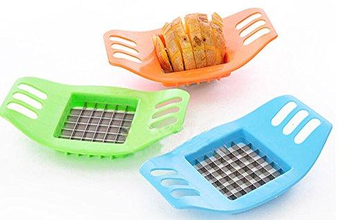 Dealglad New Stainless Steel French Fry Cutter Potato Chip Vegetable Fruit Slicer Chopper Chipper Kitchen Tool