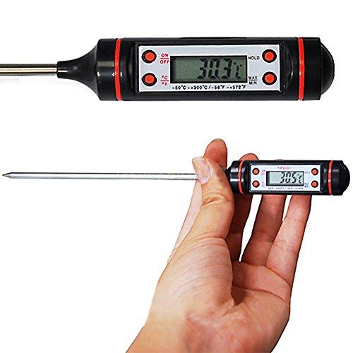 Gevian Digital Kitchen Probe Thermometer Food Cooking BBQ Meat Steak Turkey Wine Jam