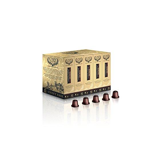Café AllOro Ultra Premium Bold Roast Italian Espresso Lungo Coffee Nespresso Compatible CapsulesTondo 50 Count