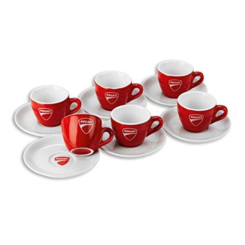 Ducati Company 14 Italian Espresso Coffee Cups with Saucers Set of 6