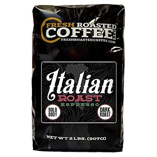 Italian Roast Espresso Artisan Blend Coffee Whole Bean Bag Fresh Roasted Coffee LLC 2 LB