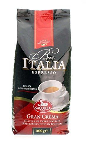 Saquella Bar Italia Slow Roasted Gourmet Italian Espresso Gran Crema Coffee Beans 1000G 22lb