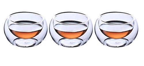 Upgrayd Double Wall Espresso Sake Tea Shot Glasses - 20ml Set of 3