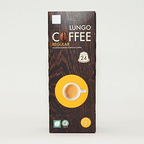 24 Nespresso Compatible Espresso Coffee Capsules - Dutch Coffee Lungo Regular