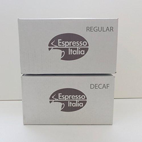 Comobar Espresso Italia Coffee Capsule 2 Cases Decaf and Regular - 200 Total Capsules