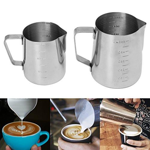 Amrka Stainless Steel Coffee Cup Frothing Milk Latte Jug Fancy Foam Pitcher 350550ml 350ml