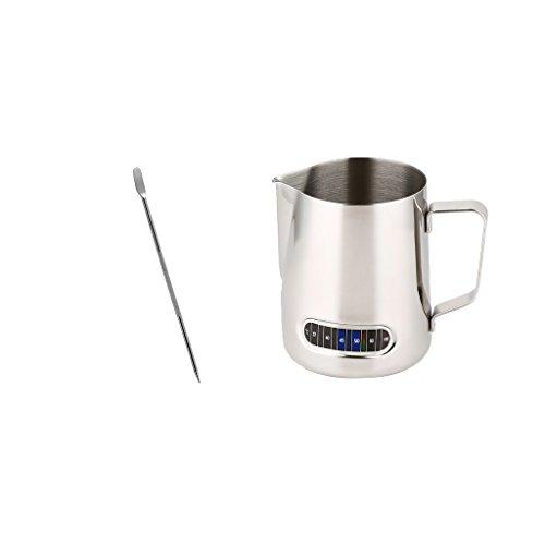 Dovewill Espresso Barista Coffee Latte Decorating Art Pen wth Thermometer Coffee Jug