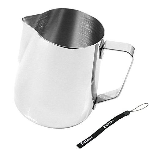 Estone Kitchen Craft Barista Espresso Coffee Frothing Tea Milk Latte Jug Thermometer 350ml Jug