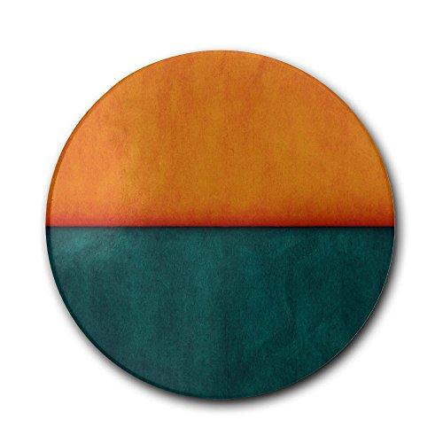 Orange Blue Pattern Coasters Cork Coasters Absorbent Absorbent Stone Coasterdrink Spills Coasters