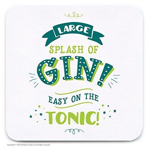 Funny Humorous Large Splash Of Gin Novelty Drinks Coaster