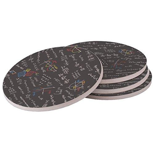 Math - Sandstone Drink Coaster set of 4 coasters